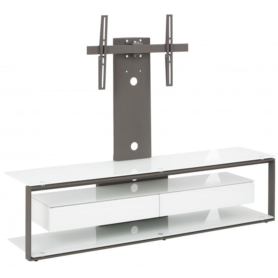 Maja Möbel Choice Tv Rack Glas Metall Anthrazit Weißglasmaja