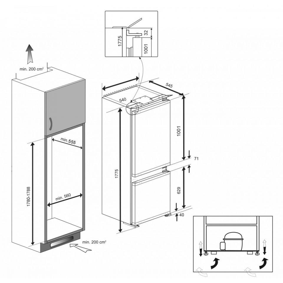 beko einbauk hlschrank mit gefrierfach beko bcna275k3s einbau k hl gefrier kombination 178 cm. Black Bedroom Furniture Sets. Home Design Ideas